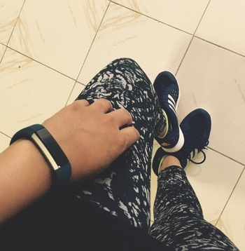 Loving my #fitbit #workout #gymwear #adidas #fitnessmotivation